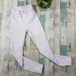 Good American Good Legs Crop Skinny Jeans Lilac 25